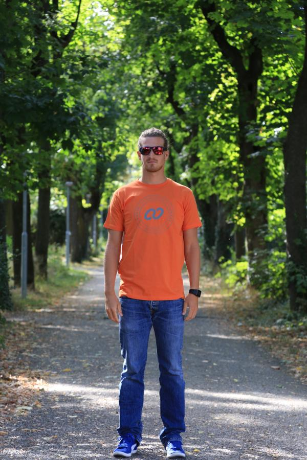 Chase Male T-Shirt Orange